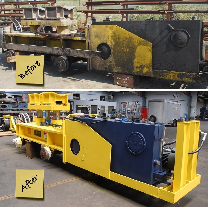Coil Transfer Car Rebuild Before and After | Delta Steel Technologies